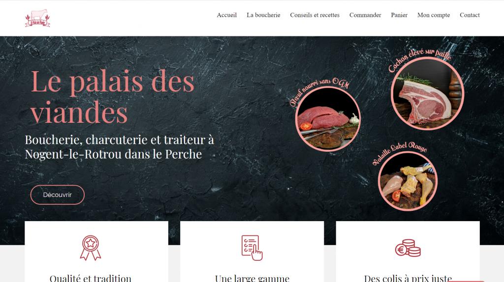 Création du site internet boucherie-du-perche.com pour Le Palais des viandes - Boucherie traditionnelle à Nogent le Rotrou