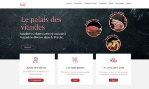 Réalisation du site internet boucherie-du-perche.com