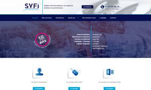 Realisation du site internet svfi.com par S404 solution 404