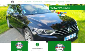 Site internet VM TAXI par S404 Solution404